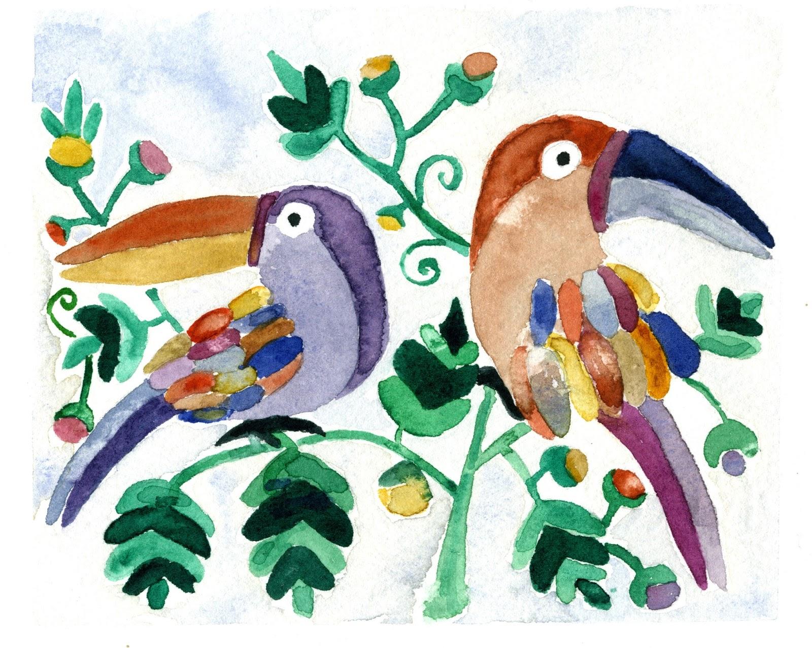 Ilustración que realicé en La Antigua mientras mi compi de viaje subía al volcán Pacaya.