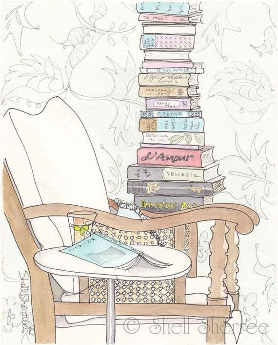 ART PRINT FOR BOOKWORMS