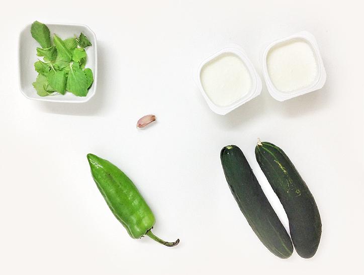 ingredientes para la sopa de pepino