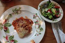 Kathys famous lasagna.