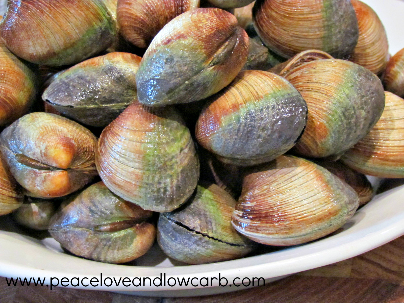 Steamed Clams Lemon garlic steamed clams
