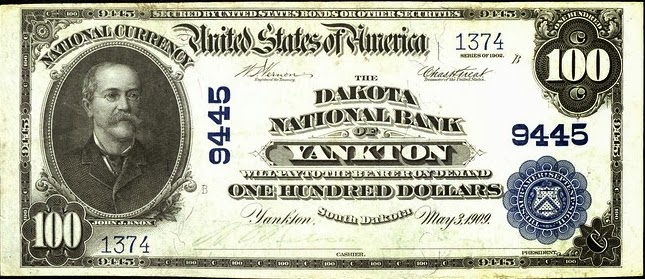 100 долларов 1902 года, выпущенные Национальным банком Дакоты