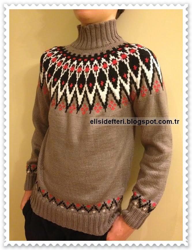 norveç stili örgü kazak