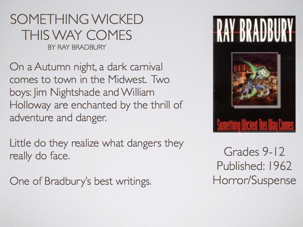 a literary analysis of something wicked this way comes by ray bradbury Free monkeynotes study guide-something wicked this way comes by ray bradbury-free book notes chapter summary book synopsis book report essay themes notes download online essay topics,study guides,downloadable summary.