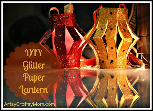 DIY Glitter Paper Lantern