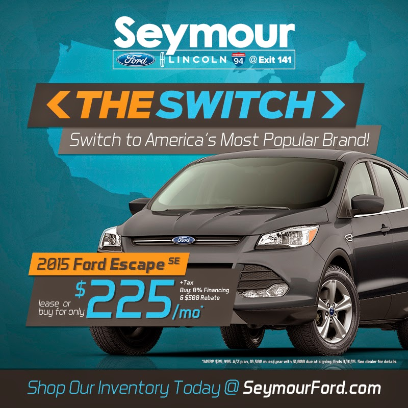"Make ""The Switch"" to a Ford with help from Seymour Ford Lincoln"