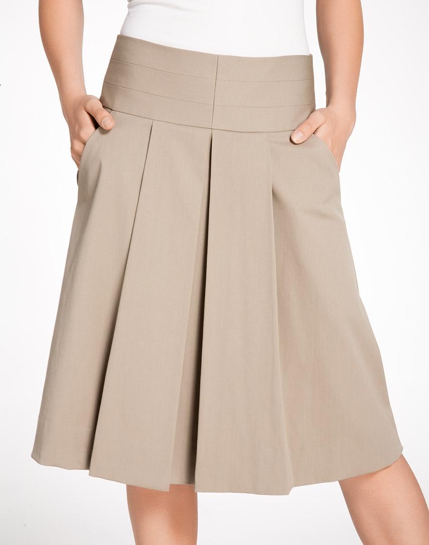 широкая юбка на кокетке: