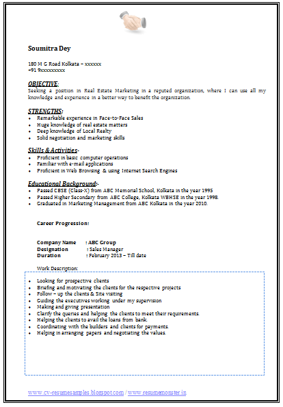 ... CV and Resume Samples with Free Download: Graduate Marketing Resume