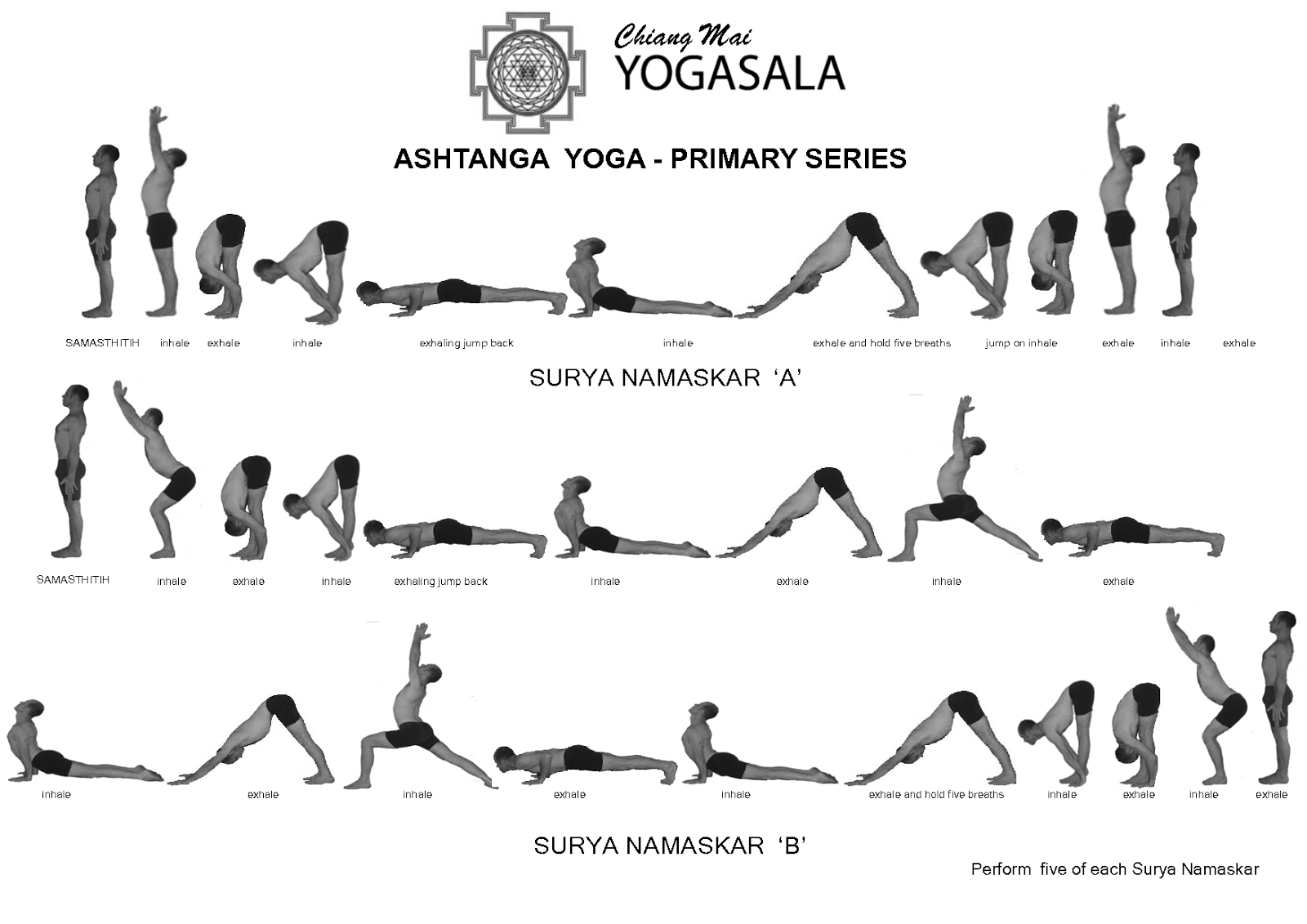 Yoga poses for beginners printable