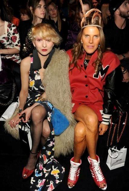 Catherine Baba, Anna Dello Russo, Moschino Fashion Show, Moschino Fall Winter, fashion show