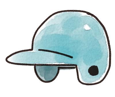 野球のヘルメットのイラスト(スポーツ器具)