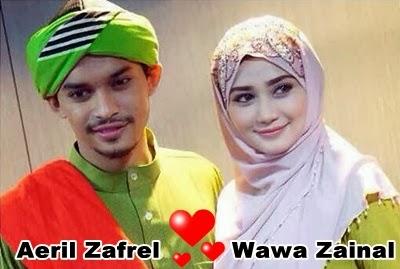 Wawa Zainal dan Aeril Zafrel sudah bernikah, gosip perkahwinan Wawa Zainal dan Aeril Zafrel, Wawa Zainal Aeril Zafrel