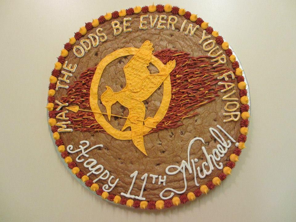 Lehilinas Edible Creations Cookie Cake Hunger Games Birthday