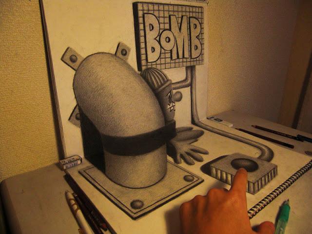 لوحات ثلاثية الأبعاد 3D+Pencil+Drawings+07