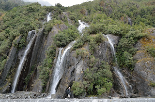 Waterfall at Franz Josef Glacier