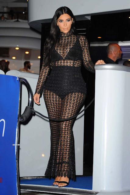Kim Kardashian at DailyMail Yacht Party