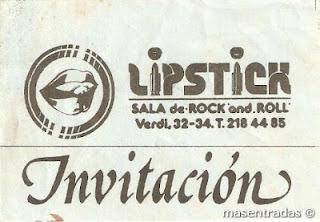 entrada de concierto de lipstick