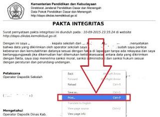 gambar contoh surat pakta integritas dapodik