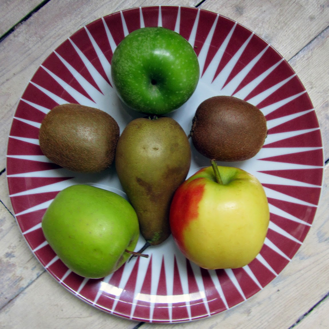 fruit on an Ikea Bråkig plate