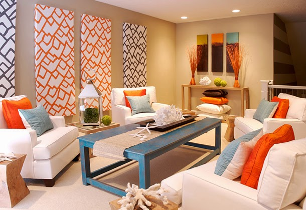 Superbe This Colorful, Fun Coastal Living Palace Shows Quite The Array Of Orange,  Green, And Blue Neutralized With Some Creamy Options. The Rustic Table Pops  With ...