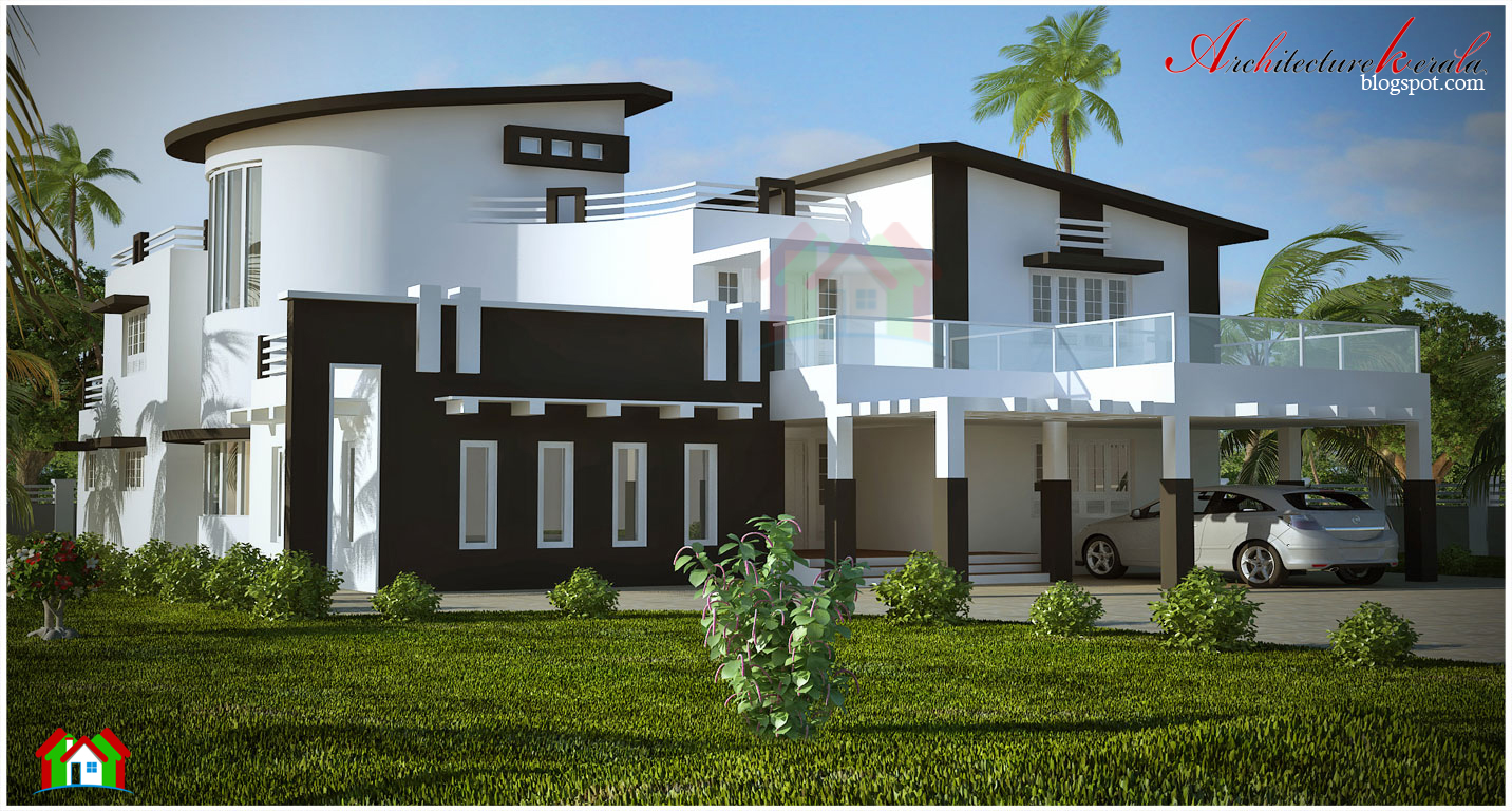 Nice Big House With Garage A Big Kerala House Plan