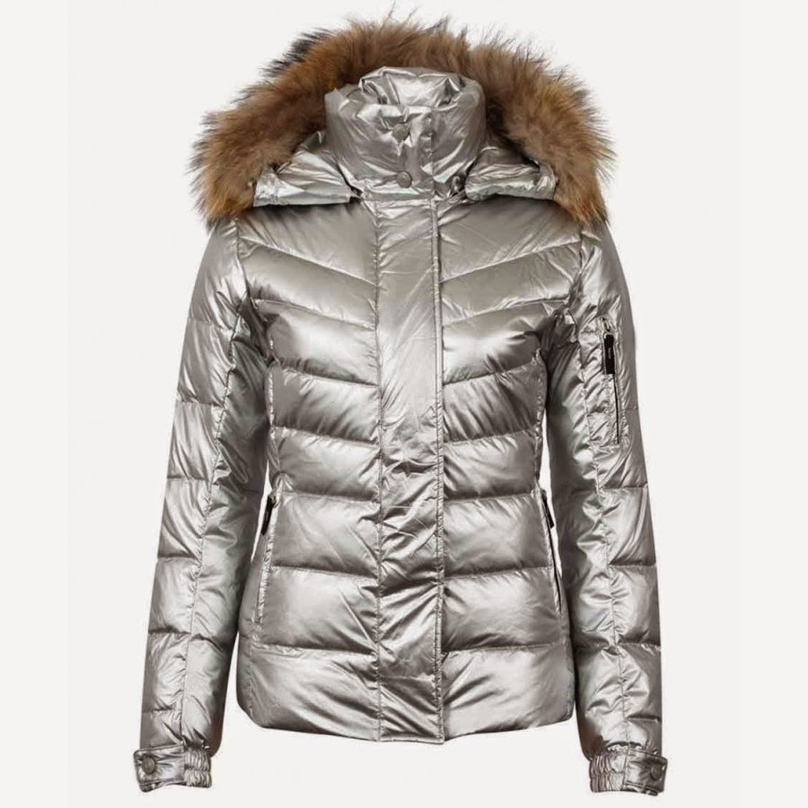 2 Broke Girls Caroline Channing Bomber Silver Puffer Jacket
