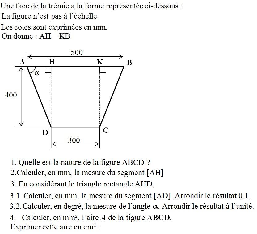 qcm concours gratuits exercice de math matique d terminer la mesure d un angle calcul d 39 une. Black Bedroom Furniture Sets. Home Design Ideas