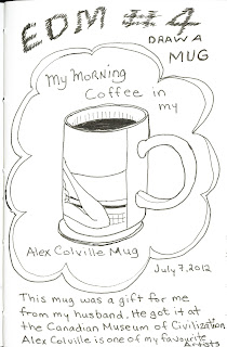 My Mug pen and ink rendering by Ana Tirolese ©2012