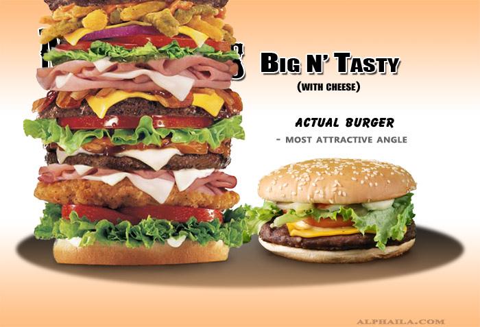 Fresh pics fast food ads vs reality for Lean cuisine vs fast food