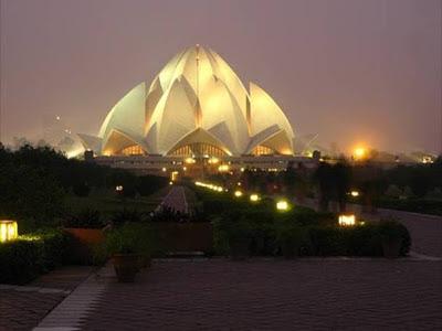 Templo Lotus (Delhi, India) Los edificios mas extraños del mundo. Edificios extraños