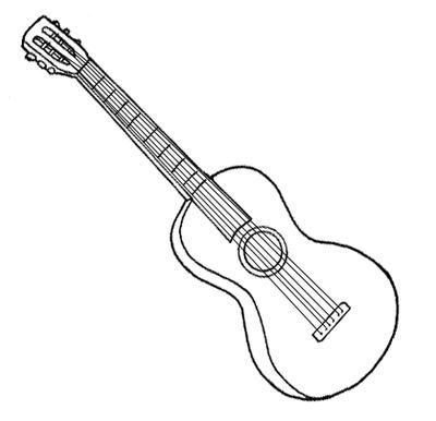 Desenhos de viol o para colorir desenhos para colorir - Pagina da colorare per chitarra ...