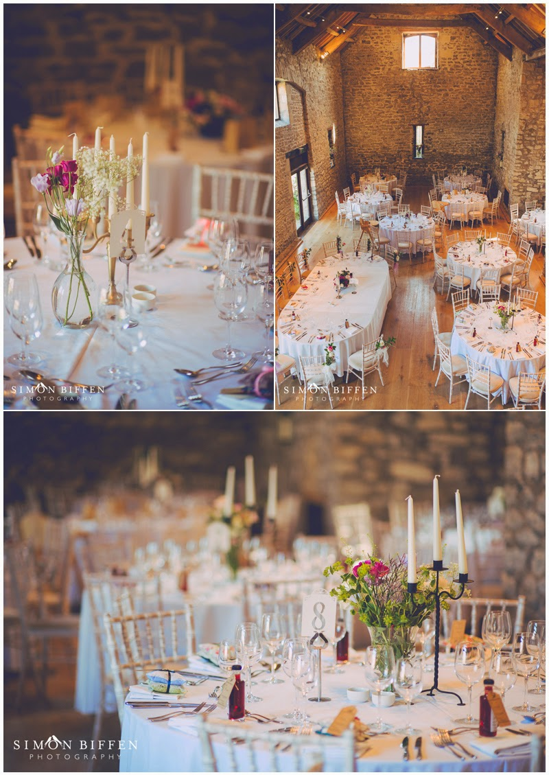 Wedding reception details at Priston Mill wedding