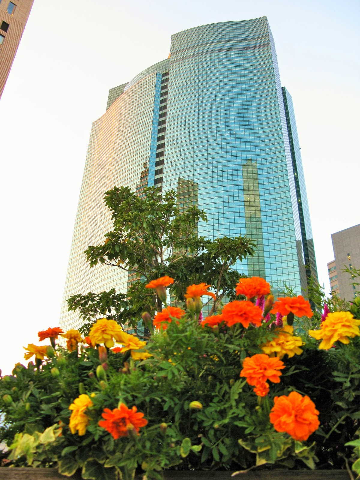 Shiodome City Center building, Tokyo, taken on an eyexploretokyo photo tour.