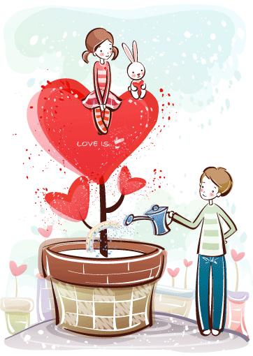 Estampas de San Valentín 38 - Vector