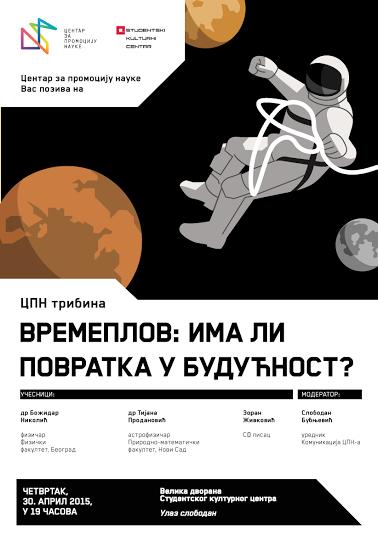 """Aprilska tribina Centra za promociju nauke """"Vremeplov: ima li povratka u budućnost?"""""""