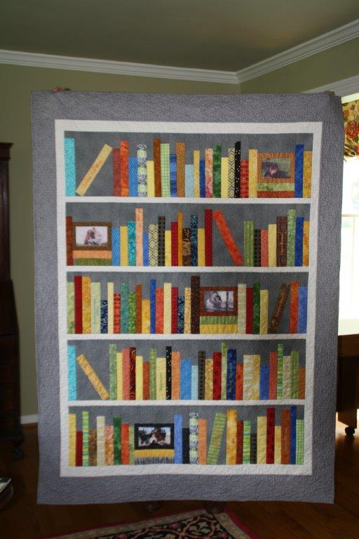 Personalized Bookshelf Quilt: Wedding Bookshelf Quilt - Love in ... : quilt bookshelf - Adamdwight.com