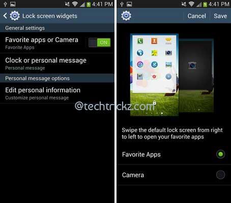 Galaxy S4 Camera Apps Widget