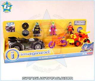 Toys R Us Kmart exclusive Imaginext Batmobile Joker Robin gift set value 2015 toy Batman DC Super Friends