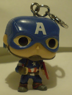 Front of Captain America Pocket Pop Keychain out of the box