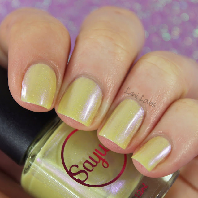 Sayuri Nail Lacquer - Golden Gumdrops nail polish swatches & review