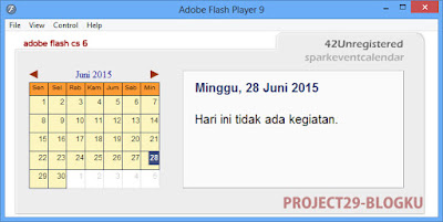 Cara Membuat Calender di Adobe Flash cs 6
