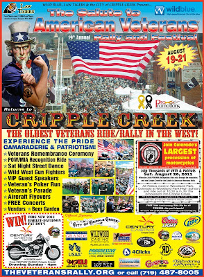 2011 Salute to American Veterans Rally Poster