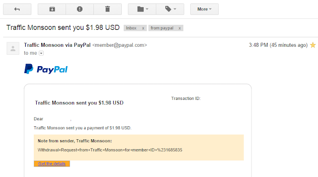 Trafficmonsoon Payment Proof
