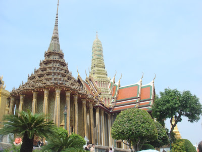 The roof tops of the buildings within the palace complex, bangkok