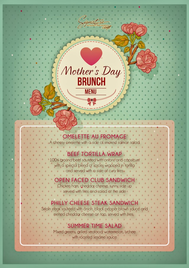 Happy Mother's Day Brunch Menu