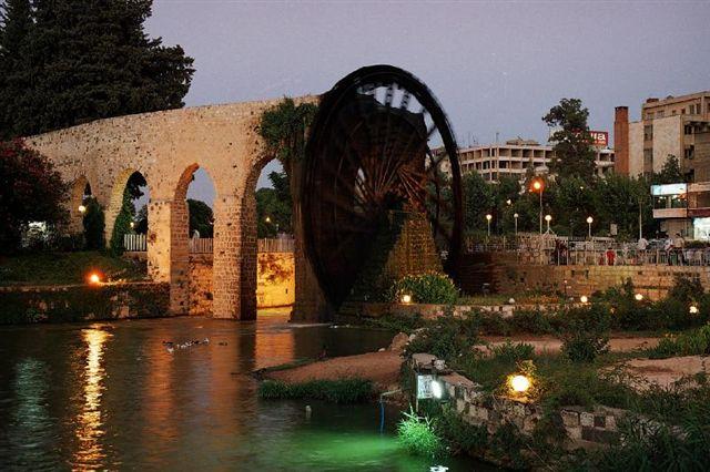 النواعير في مدينة حماه سوريا