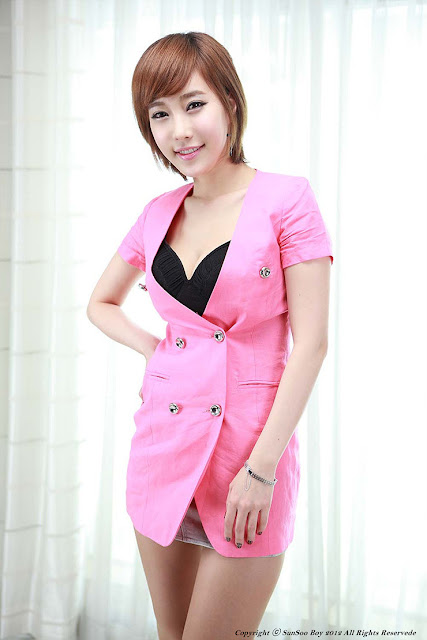 4 Im Min Young in Pink-very cute asian girl-girlcute4u.blogspot.com