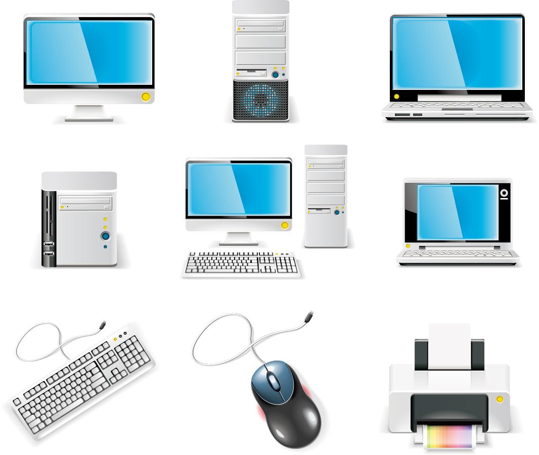 パソコン機器のクリップアート computer equipment icon vector イラスト素材1
