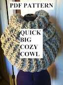 Crochet Pattern for Quick Big Cozy Cowl