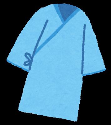 健康診断の検査着のイラスト(ブルー)